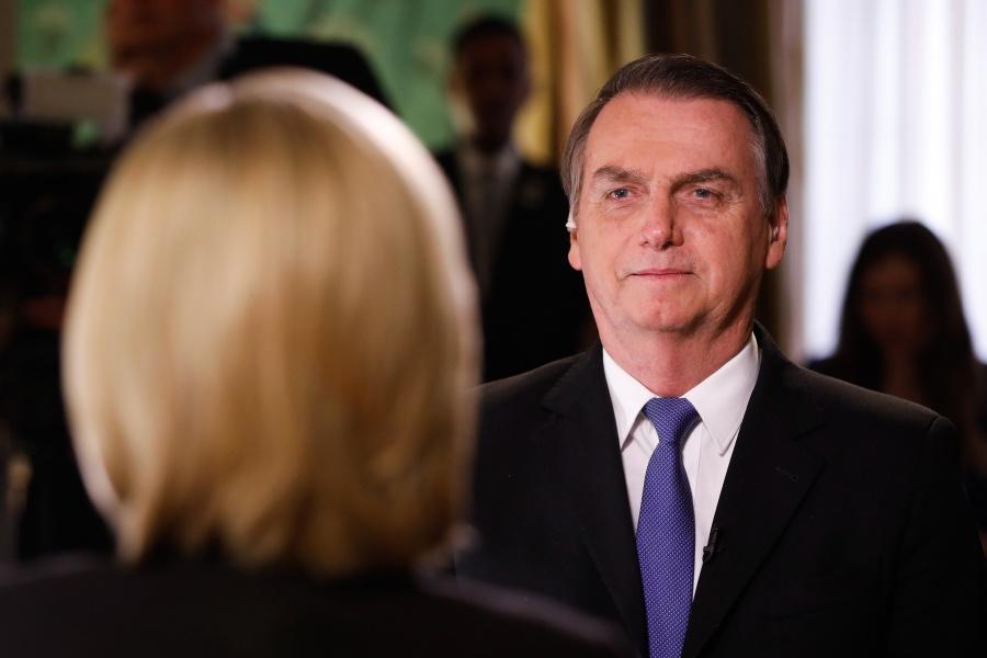 Jair Bolsonaro em entrevista à Fox News