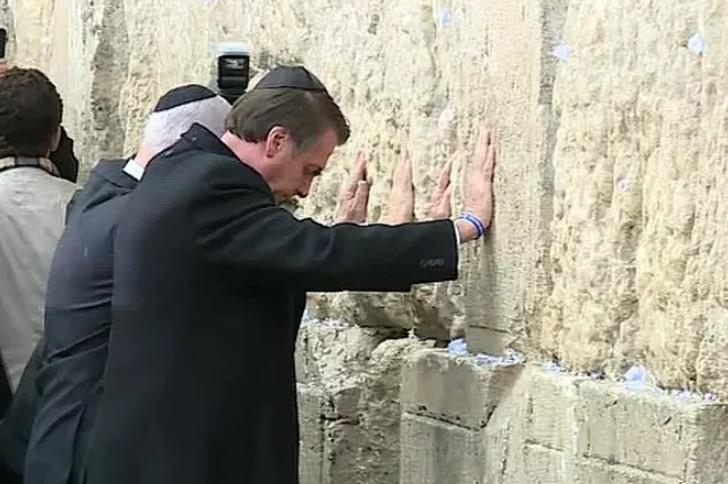 Jair Bolsonaro no Muro das Lamentações